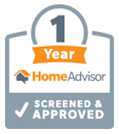 HomeAdvisor 1 year screened and approved