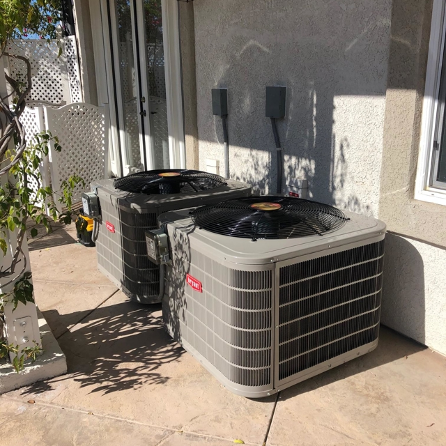 Bryant AC Units Installed Outside of House