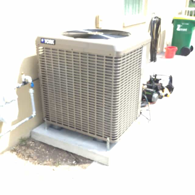 Air conditioning replacement after photo