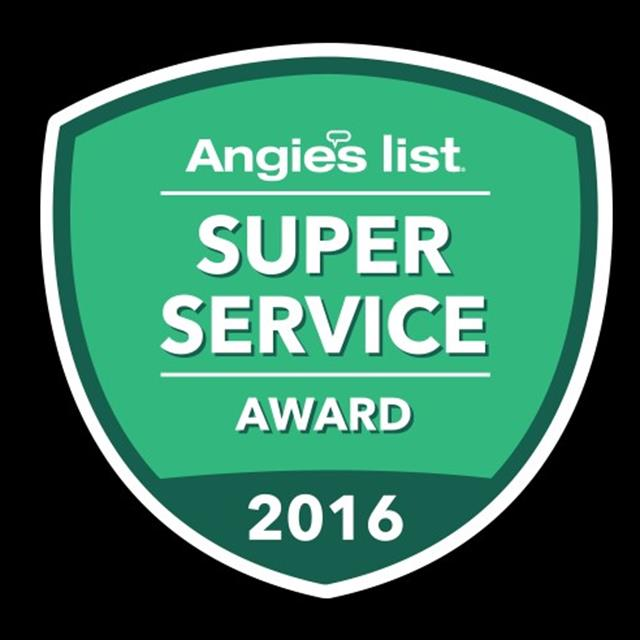 Proud of our Recognition in Top Service with Angie's List Members This Past Year.