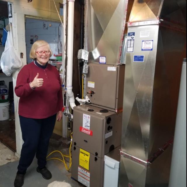Our customers love us! A new Coleman system installed within a day during the cold of the winter months. Carolyn sent her props to us on great service from Matt, Tristan and Ryan. Thanks team!