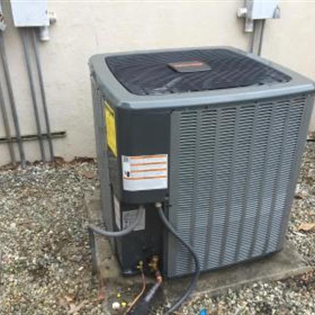 This was a commercial install. Amana 14 SEER 5 Ton Split Heat Pump