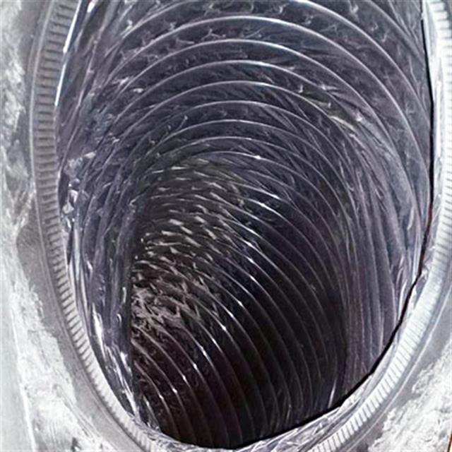 You may think this is a new air duct, but this is what it looked like after one of our duct cleaning.