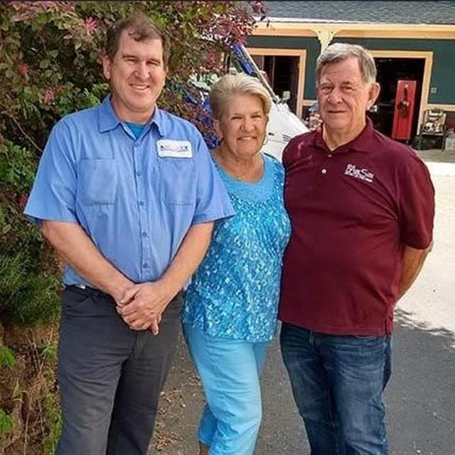 Aire Serv of the Stockton is now a second-generation family business. Shown left to right – Bryan, Dianne, and Sam Harris.