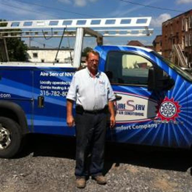 Clint, our Installation Technician Manager, after installation of a rooftop unit. We install both residential and commercial HVAC systems!