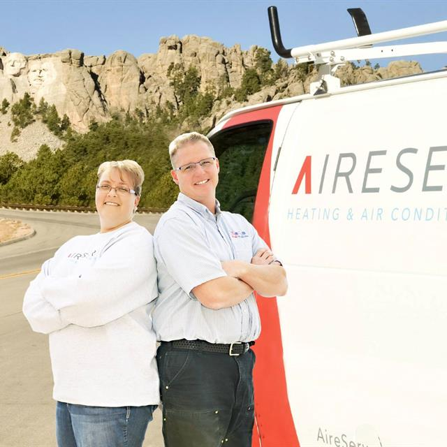 owners next to aire serv van