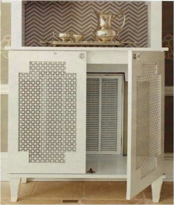 Air Vent Cover: Wooden Hutch
