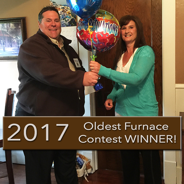 Aire Serv of East Central Oldest Furnace Contest Winner