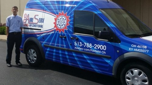Aire Serv of Fairfield van and tech