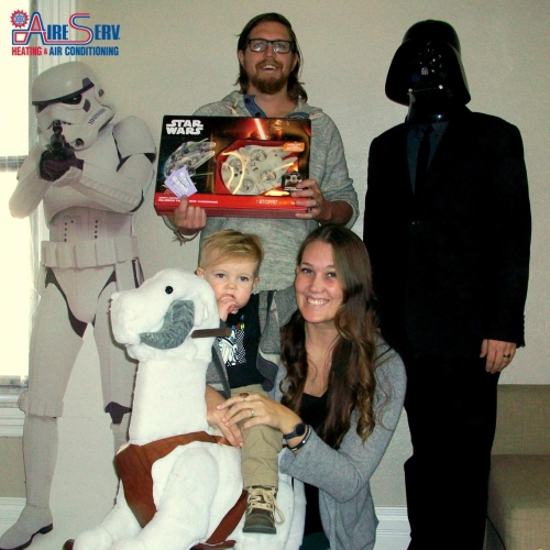 Aire Serv Star Wars Photo Contest Winner Gentry Family