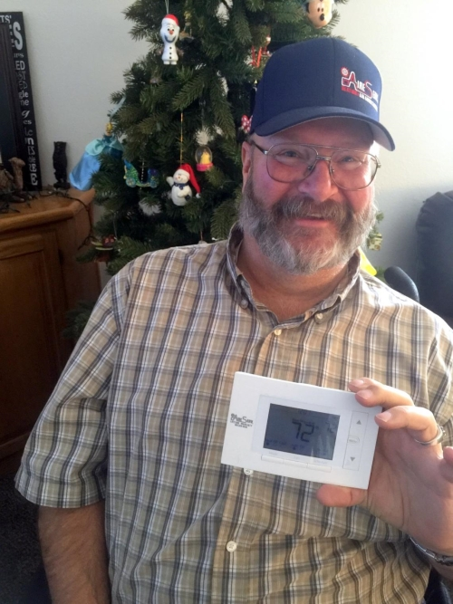 Aire Serv Christmas Giveaway Winner Brad Baker
