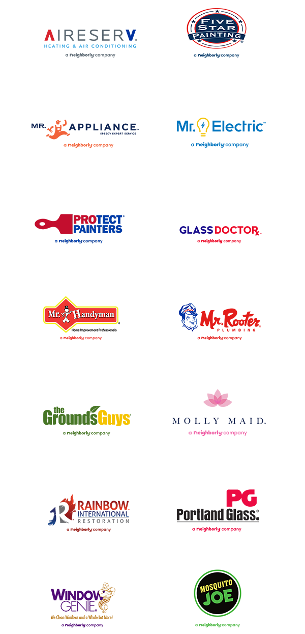 Full color, full suite of Neighborly company logos - vertical