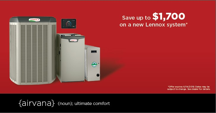 airvana. save up to $1,700 on a new lennox system