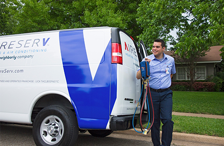 Aire Serv van and technician