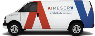 Aire Serv of North Denver van logo