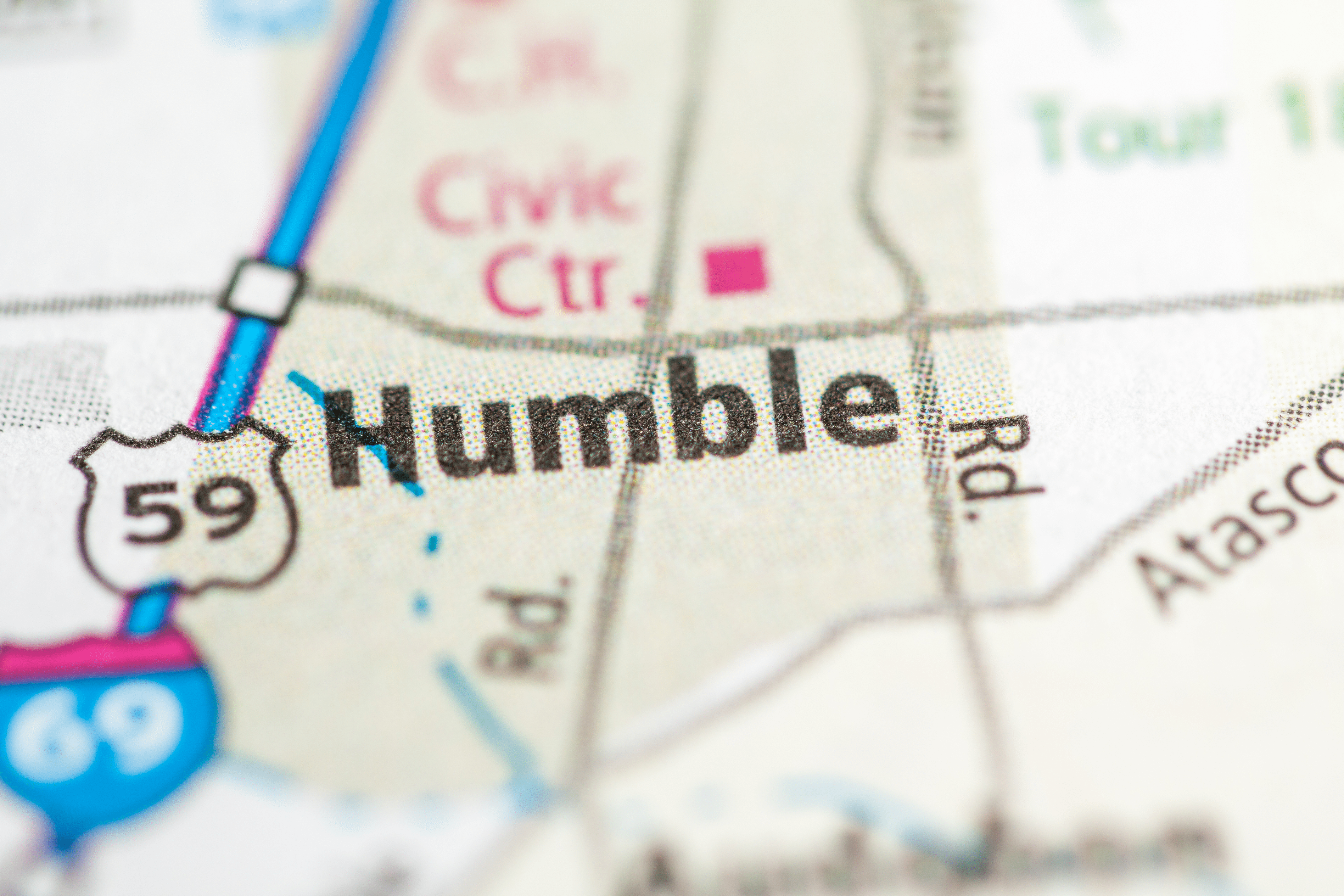 Humble, TX on a map