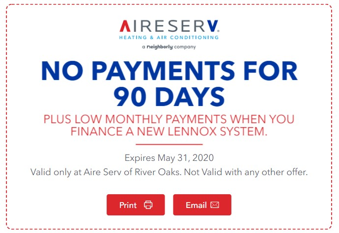 Lennox Financing Coupon - 90 Days